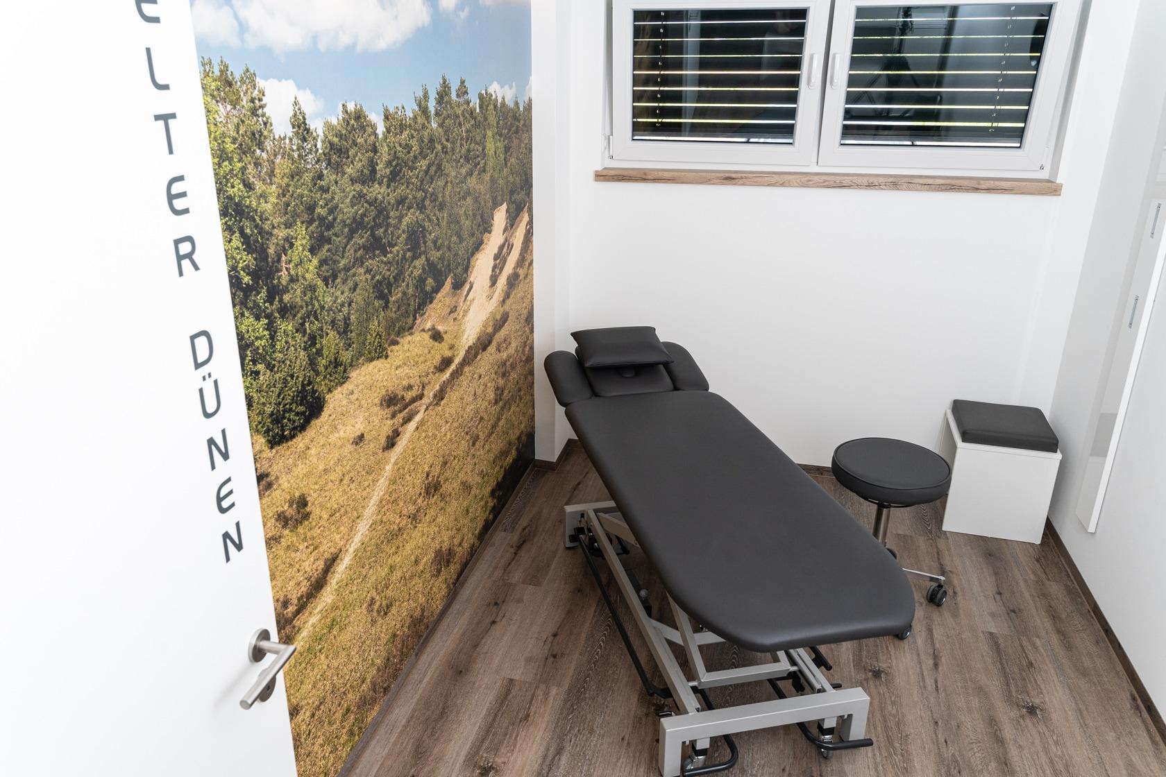 Behandlungsraum Elter Dünen in der Physiotherapiepraxis Schwert in Mesum (Rheine)